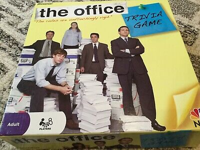 The Office Trivia Board Game 99% Complete Unpunched Portion, Cards Are Sealed