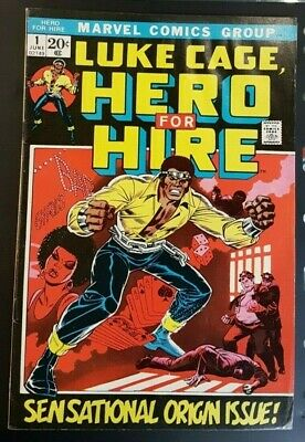 1st App Luke Cage Hero for Hire #1 ( 8.5 1972 June Marvel Comic)
