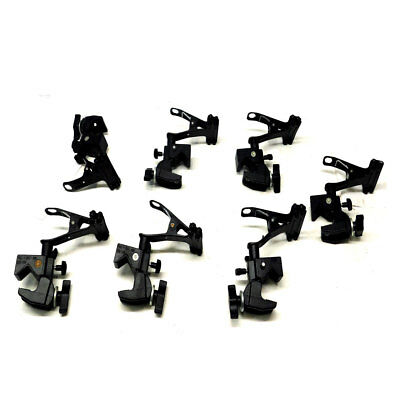 (Lot of 7) Manfrotto Black #175 Spring Clamps w/#035 black Super Photo clamps