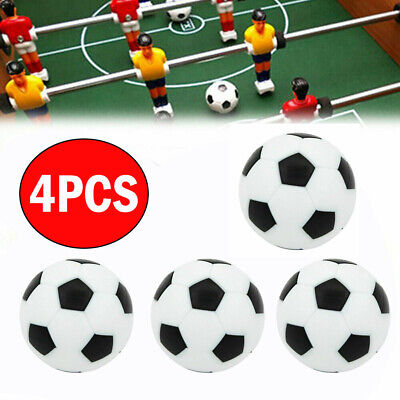 4Pc 31mm Mini Foosball Table Soccer Fussball Ball For Indoor Game Black a White