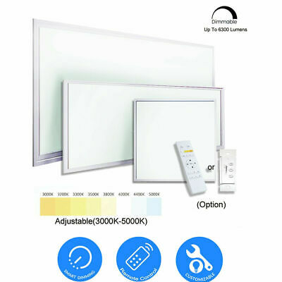 2x4 2x2 1x4 Commercial LED 6300LM Dimmable Drop Ceiling Flat Panel Troffer Light