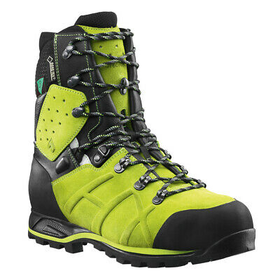 "HAIX 603110 Men's Protector Ultra Lime Green 8"" GORE-TEX Steel Toe Boots Shoes"