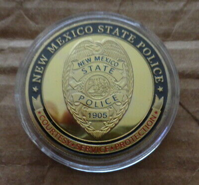 United StatesNew Mexico State Police NMSPGold Plated Challenge Coin U.S