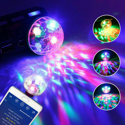 USB Mini RGB LED Disco Stage Light Party Club DJ KTV Xmas Decors Phone Ball Lamp