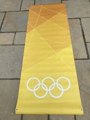 Rare LONDON Paralympic Olympics 2012 Flag Sign Banner  Memorabilia Yellow Orange
