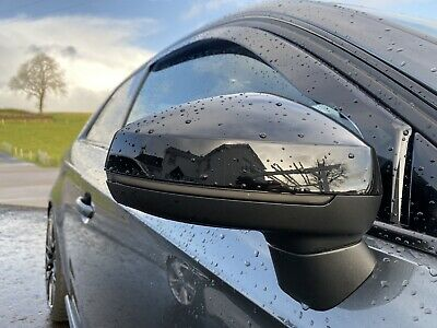 Audi A3 S3 RS3 8V Wing Mirror Caps Cover S-Line Gloss Pearl Black Pair 2013-19
