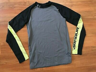 Boys GREY Thermal UNDER ARMOUR TRAINING Base Layer TOP (age13-14) *NICE COND*