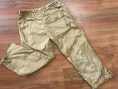 Boys AUTHENTIC Brown MAHARISHI DRAGON TROUSERS Pants (age5-6) *GREAT COND*