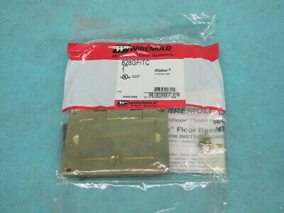 WIREMOLD BRASS GFI RECEPTACLE COVER Model 828GFITC  U.S.A