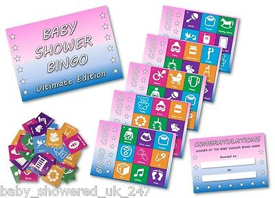 Baby Shower Party Games  BABY SHOWER BINGO - ULTIMATE EDITION  uni  - 20 players