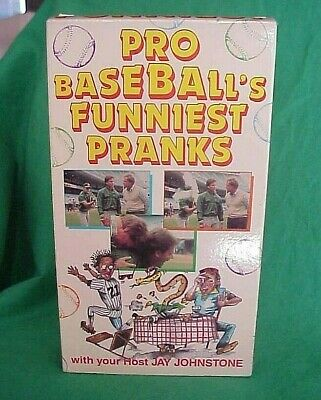 1990 Pro Baseballs Funniest Pranks Comedy VHS Jay Johnstone MLB