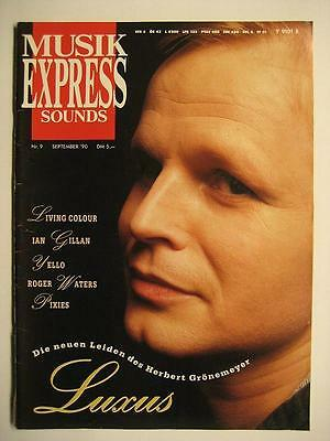 Musik Express Sounds 1990 # 9 - Grönemeyer Ian Gillan Pixies Yello Roger Waters