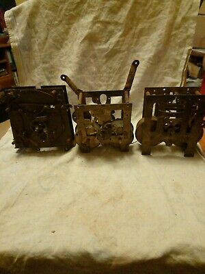 Three Clock Movements For Spares Or Repairs