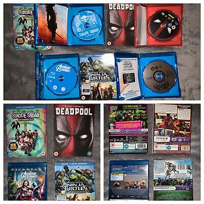 Avengers Marvel DC Disney Blu Ray Bundle Mint Limited Edition X4