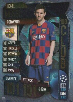 Match Attax Champions League 2019/20 100 Hundred Club Messi Mint