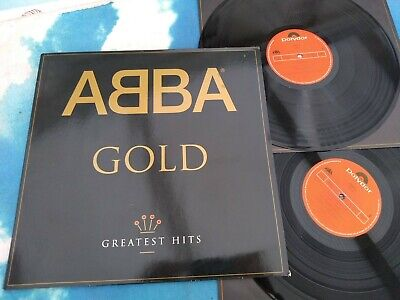 Abba Gold Greatest Hits EUROPE DBL LP VINYL REMASTERED 1992 w/INNERS