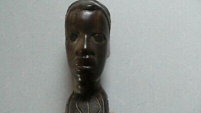 Large Wooden Carved African Head