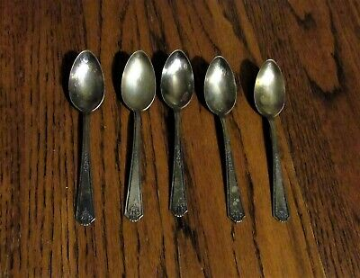 1920s Antique Vtg National silver plate epns set lot silver plated metal spoon