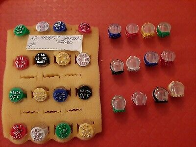 Vintage Gumball/Vending/Dime Store Smarty Sayings Rings Lot Of 28