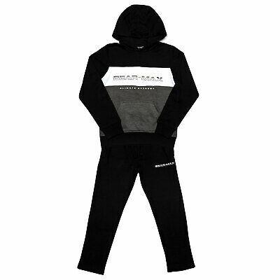 Junior Boys Bear Max Logo Tracksuit In Black- Set Comes With Hoody And Track