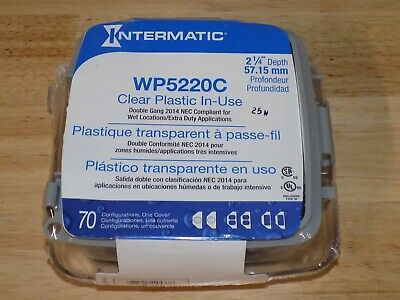 """Intermatic WP5220C Clear Plastic In-Use 2-1/4""""D Weatherproof Receptacle Cover"""