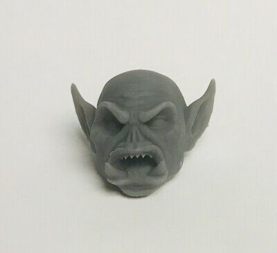 Custom modded Orc head hand-sculpted Fits Mythic Legion neck-post #11