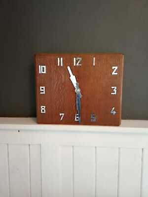 Smith's Art Deco Wall Clock