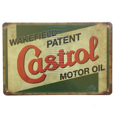 Castrol Wakefield Tin Sign Motor Oil Petrol Shed Garage Man Cave 30cmx20cm - New