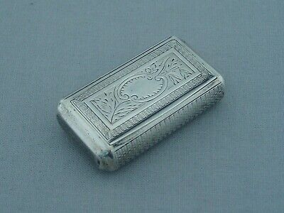 ANTIQUE FRENCH SOLID SILVER 19th CENTURY SNUFF BOX ENGINE TURNED A.BUFFAT