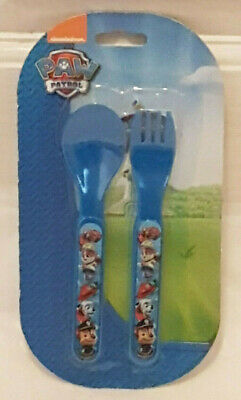 Toddler Boys Paw Patrol Fork and Spoon Cutlery Set 18 Mths +New
