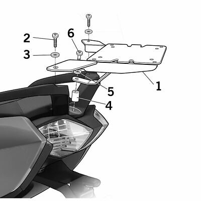 Fixation porte-bagages SHAD BMW C650 GT K19 12-18