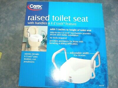 Carex Toilet Seat With Handles & E-Z Lock Feature