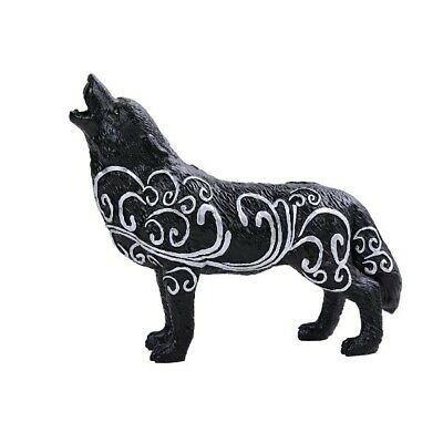 """Swirling Wind Native Tribal Howling Wolf Totem Spirit Figurine Collection 6""""L"""