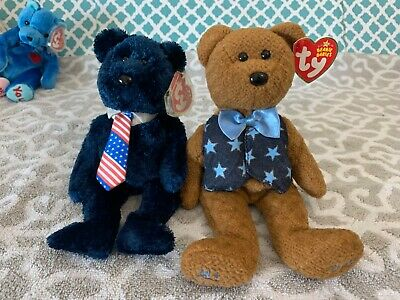 """Ty Beanie Baby All Star Dad The Father/'s Day Bear MWMT 9.5/"""" Vintage Stuffed Toy"""