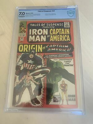 Tales of Suspense 63 CBCS First Silver Age Origin of Captain America Marvel 1965