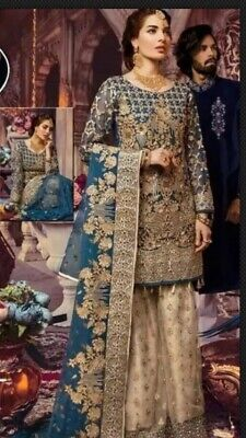 INDIAN /Pakistani WEAR Bridal FABRIC DRESS   Chiffon SALWAR KAMEEZ /Lengha