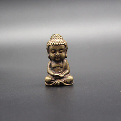 Exquisite Collection Chinese pure copper Pocket Buddha statue h1514