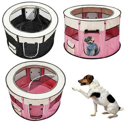 Pet Dog Cat Playpen Mesh Tent Portable Exercise Fence Kennel Cage Crate 8 Panels