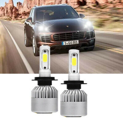 955 2002-10 Low High Beam Xenon H7 H7 Headlight Bulbs Set For Porsche Cayenne
