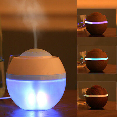 USB LED Ultrasonic Air Humidifier Essential Aroma Oil Diffuser Purifier Home RX
