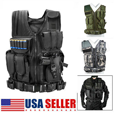 Tactical Vest Breathable Military Army Combat Hunting CS Field Training Y9K2