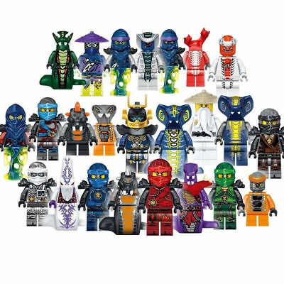 UK Set of 24pcs Ninjago Mini figure for Lego Kai Jay Building Blocks XMAS Toys E