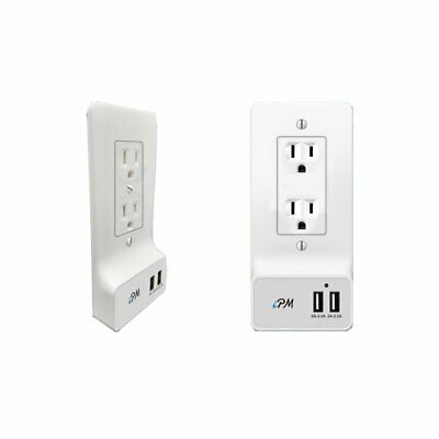 USB Smart Wall Plate With 2 USB Ports - Rectangle