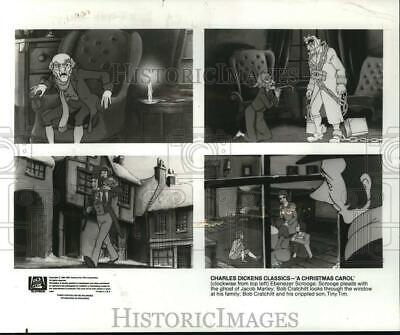 "1984 Press Photo Scenes from the animated version of ""A Christmas Carol"""