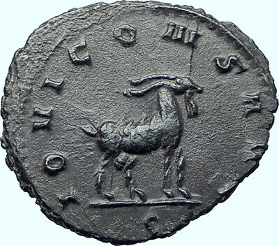 GALLIENUS Authentic Ancient 267AD Rome Genuine Original Roman Coin GOAT i41949