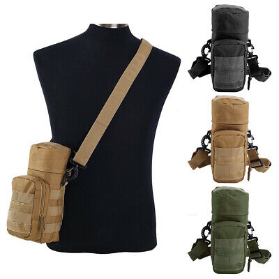Tactical Outdoor Molle Water Bottle Pouch Kettle Bag Holder with Shoulder Strap