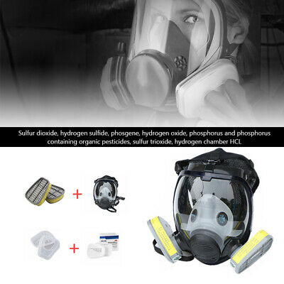15 in 1 Full Face Gas Mask Painting Spraying Dust Facepiece Respirator For 6001