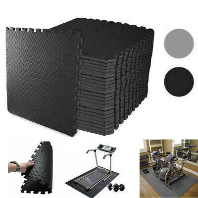 Interlocking GREY Heavy Duty EVA Foam Gym Flooring Floor Mat Tiles 60X60X1cm