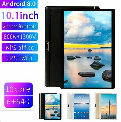 """10.1"""" WIFI/4G-LTE 6G+64G HD PC Tablet Android 8.0 bluetooth SIM GPS Dual Camera"""