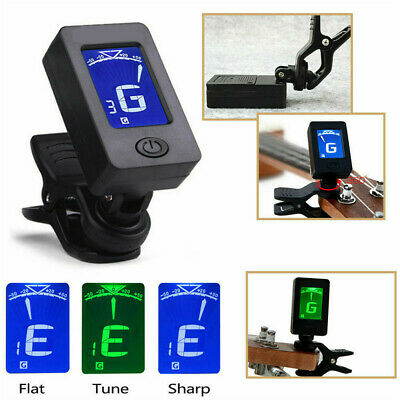 LCD Clip On Chromatic Electric Acoustic Guitar Bass Ukulele Banjo Mandolin Tuner